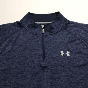 UNDER ARMOUR Women's Blue 1/4 Zip Shirt